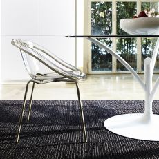 CS1390 Bloom - Calligaris chair made of metal and polycarbonate, different colours available