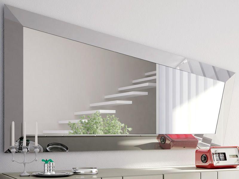 Look l miroir moderne avec cadre en verre sediarreda - Cornici specchi moderne ...