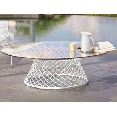 Heaven B - Tavolo Emu in metallo, piano tondo 120 cm, altezza 39 cm, per giardino