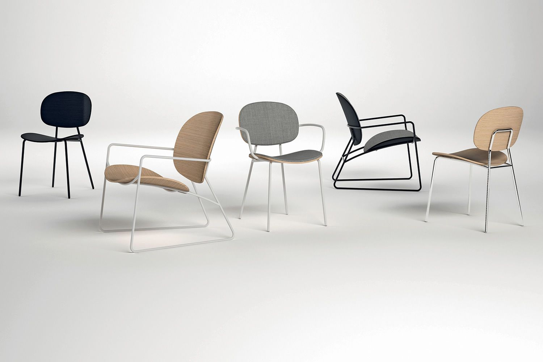 tondina lounge stuhl lounge infiniti aus metall sitz und r ckenlehne aus holz in. Black Bedroom Furniture Sets. Home Design Ideas