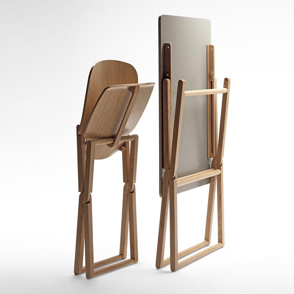 Nibe sedia pieghevole in legno massello sediarreda - Sedia pieghevole design ...