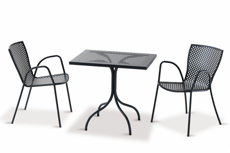 Rig21p silla met lica con reposabrazos apilable en - Silla metalica apilable ...