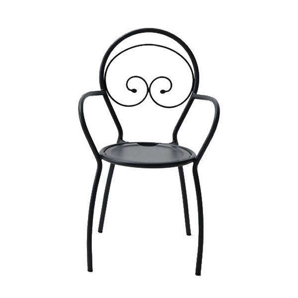 Rig43p silla m talica con reposabrazos apilable para - Silla metalica apilable ...