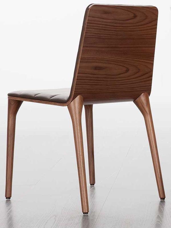 Pit w sedia design di tonon in legno imbottita diversi colori sediarreda - Sedie di design outlet ...