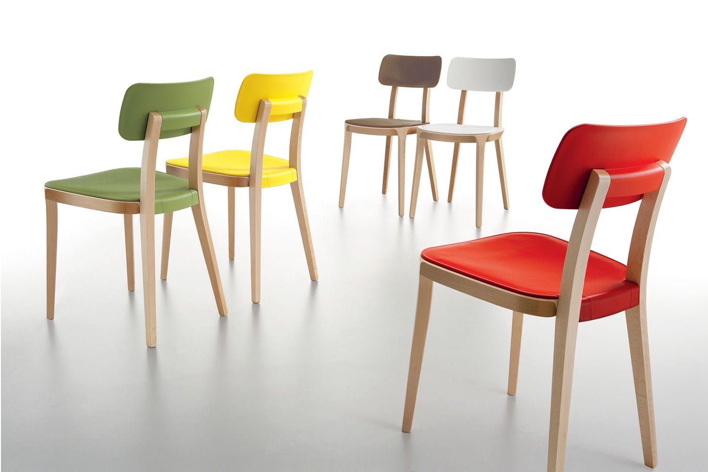 Porta venezia sedia infiniti in legno con seduta in for Sedie in legno