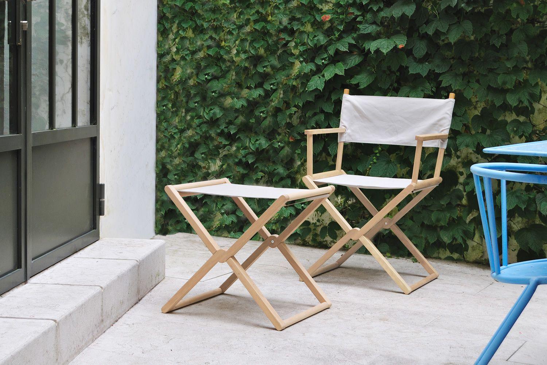 Set sedie regista pieghevoli da giardino in legno galaxyprice