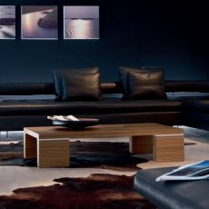 Brent 6796 - Tonin Casa rectangular coffee table made of wood, different finishes available