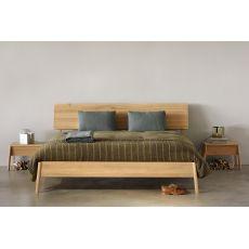 Air - Letto matrimoniale Ethnicraft con struttura in legno, diverse misure disponibili