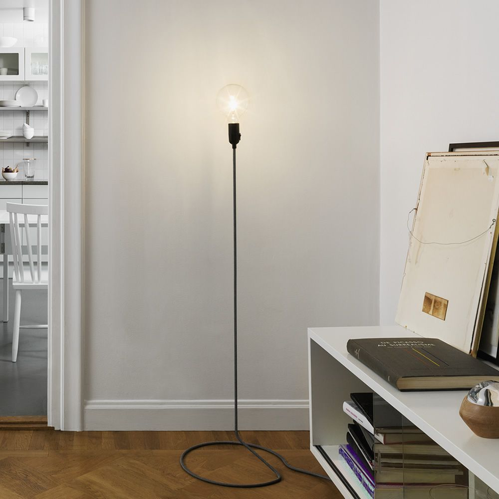 cord lighting. Cord - Design Floor Lamp, With Textile On Steel Tube Lighting
