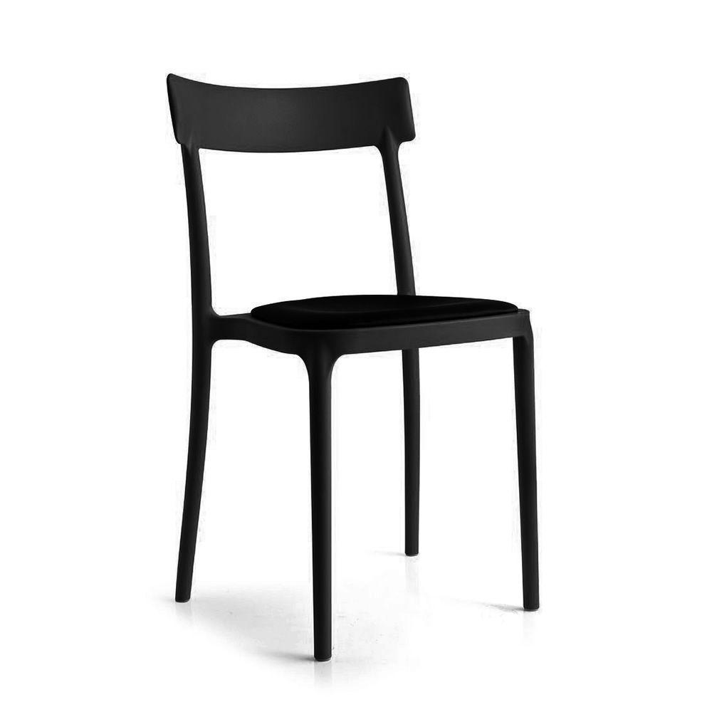 cb1539 argo chaise empilable connubia calligaris en polypropyl ne avec assise rembourr e. Black Bedroom Furniture Sets. Home Design Ideas
