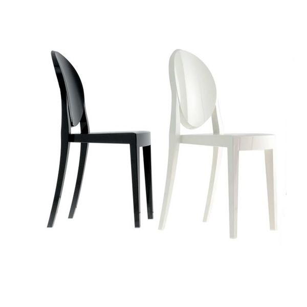 Victoria ghost chaise kartell design en polycarbonate for Chaise design colore