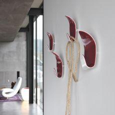 Ivy 7418 - Set di 2 ganci appendiabiti da parete Tonin Casa in metacrilato, diversi colori disponibili