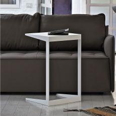 Qui - Servetto o tavolino da divano Bontempi Casa, con struttura in metallo e piano in vetro, diversi colori e dimensioni disponibili