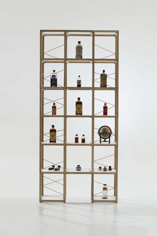 Zia babele ca libreria modulare di design in legno di for Libreria modulare