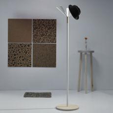 Juta - Appendiabiti in metallo e legno, diverse finiture disponibili