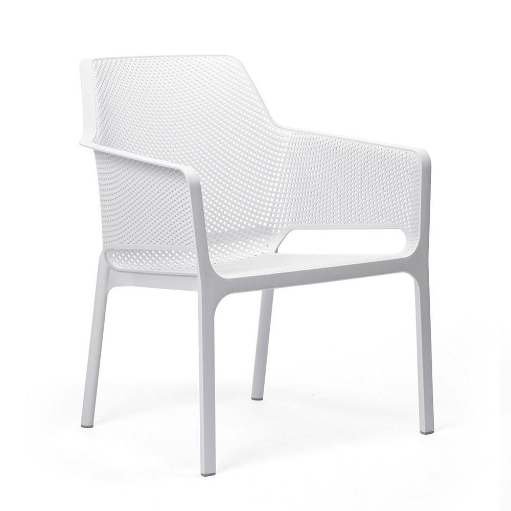 net relax fauteuil en polypropyl ne empilable avec coussin id al l 39 ext rieur sediarreda. Black Bedroom Furniture Sets. Home Design Ideas