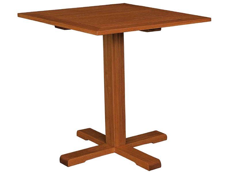 Adige para bare y restaurantes mesa de madera con tapa for Mesa 70x70 madera
