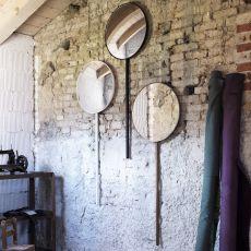 Retroviseur Domestique - Wall-mounted mirror Miniforms, in wood