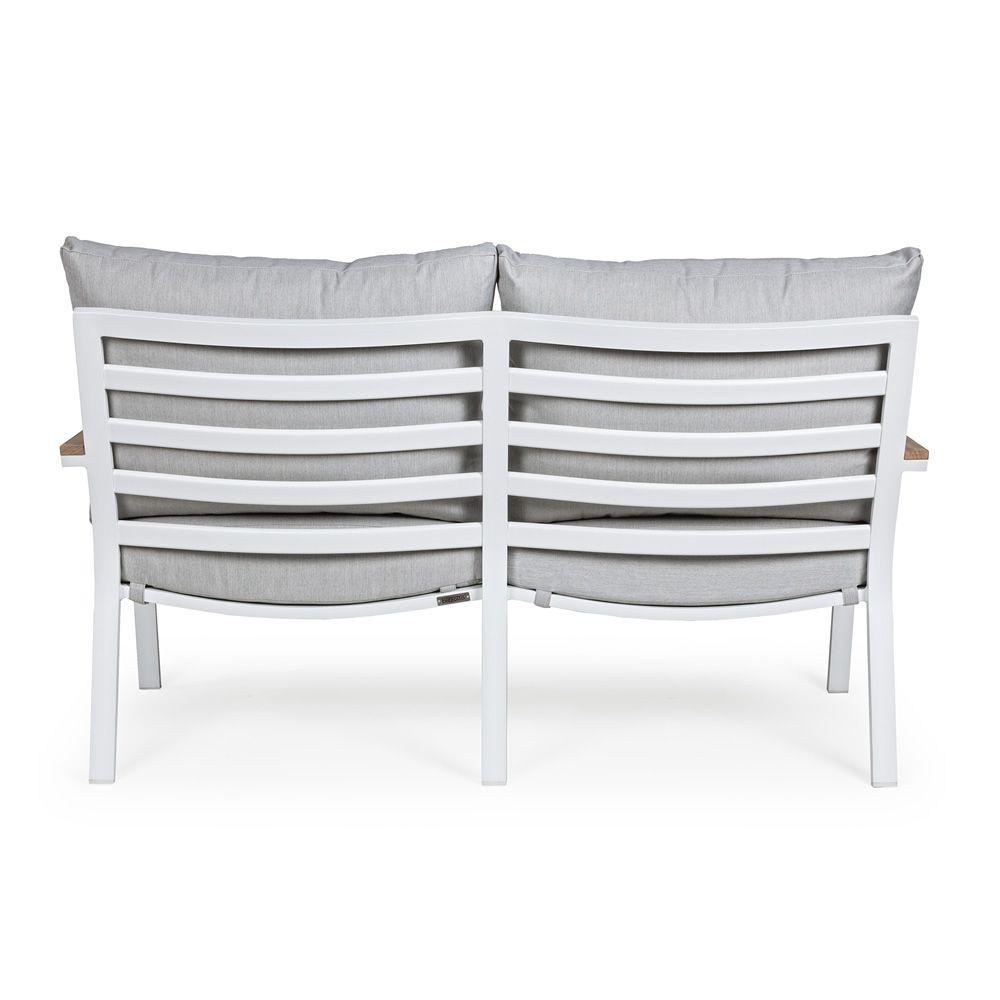 Lisso set set in alluminio e teak per giardino 2 for Divanetto giardino offerta