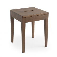 CS1102 La Locanda - Calligaris low wooden stool, height 45 cm
