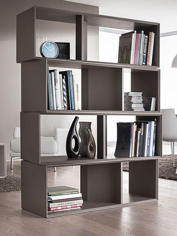 Pa608 libreria modulare in legno diversi colori sediarreda for Casa moderna tortora