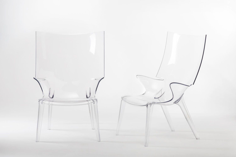 uncle jim kartell design armchair in polycarbonate several colours also for garden. Black Bedroom Furniture Sets. Home Design Ideas