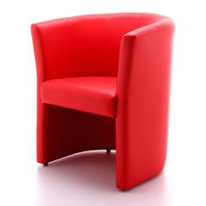 ML140 - Tub chair - chair for waiting rooms, in leather or imitation leather