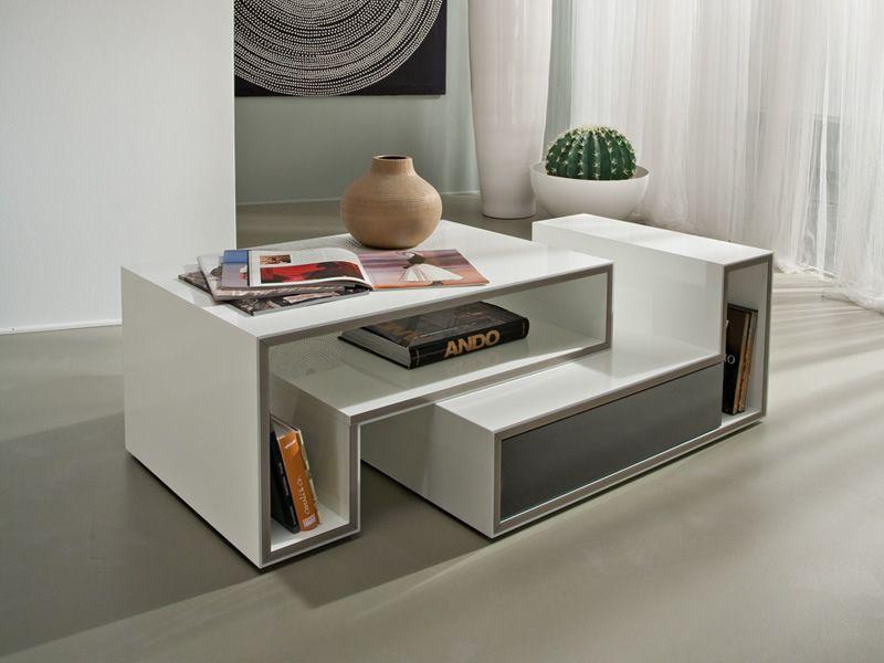 pa361b anbau couchtisch aus lackiertem holz mit schublade. Black Bedroom Furniture Sets. Home Design Ideas