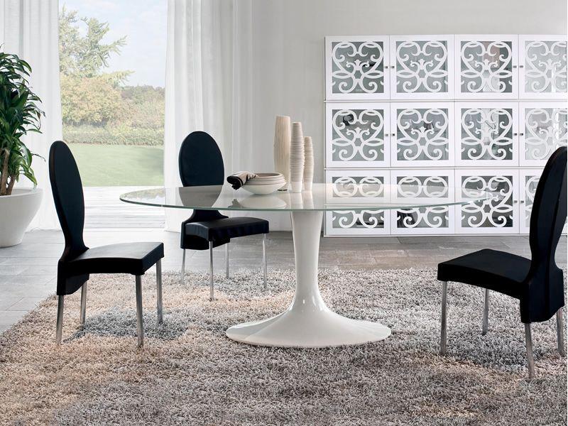 Imperial 8010 tavolo tonin casa in agglomerato di marmo - Tavolo ovale marmo bianco ...