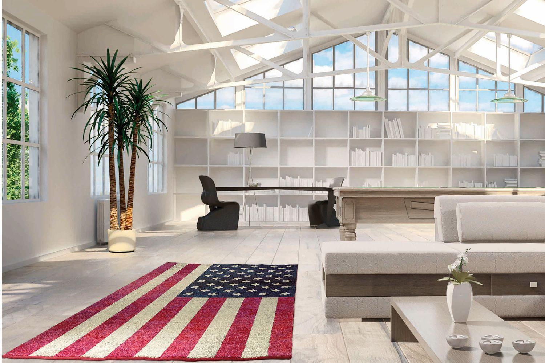 Flags Moderner Teppich mit Muster der amerikanischen oder