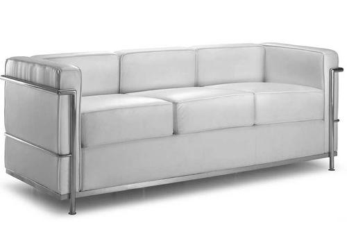 Ml160 3p divano design a 3 posti in pelle o ecopelle for Poltrone finta pelle