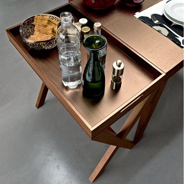Calligaris Tray Coffee Table: CS5060 La Locanda: Calligaris Wooden Side Table