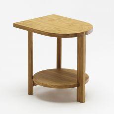 Hardy - Mesita de madera roble, disponible en varios colores