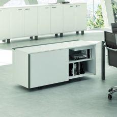 Office X8 Cabinet - Mobile di servizio per ufficio, in metallo e laminato, disponibile in diverse dimensioni e finiture