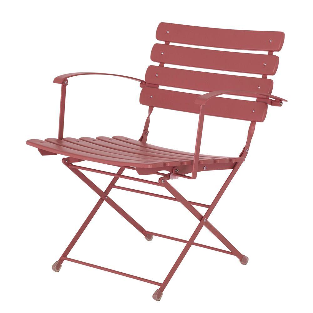Arc en ciel 401 fauteuil emu pliable en m tal pour - Fauteuil pour jardin ...
