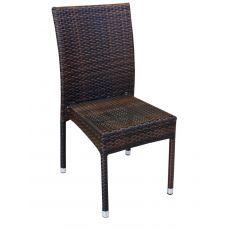 A80E - Sedia per giardino in alluminio e simil rattan, impilabile, disponibile in diversi colori
