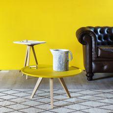 Servolone - Tavolino Miniforms in legno, con vassoio rotondo in mdf