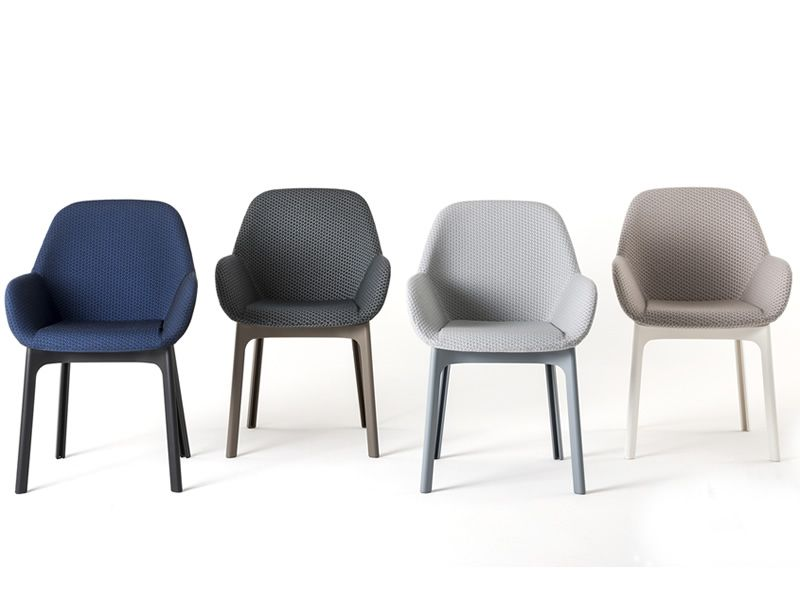 Clap design kartell armchair padded available in several colours