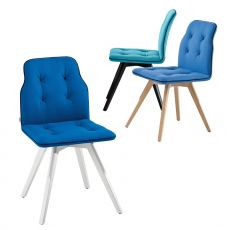 Betibù Wood - Designer chair Chairs&More, in wood with upholstered seat, available in different colours, without armrests