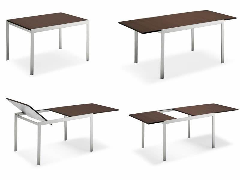 742 1 table en m tal plan 85x120cm rallonge sediarreda. Black Bedroom Furniture Sets. Home Design Ideas