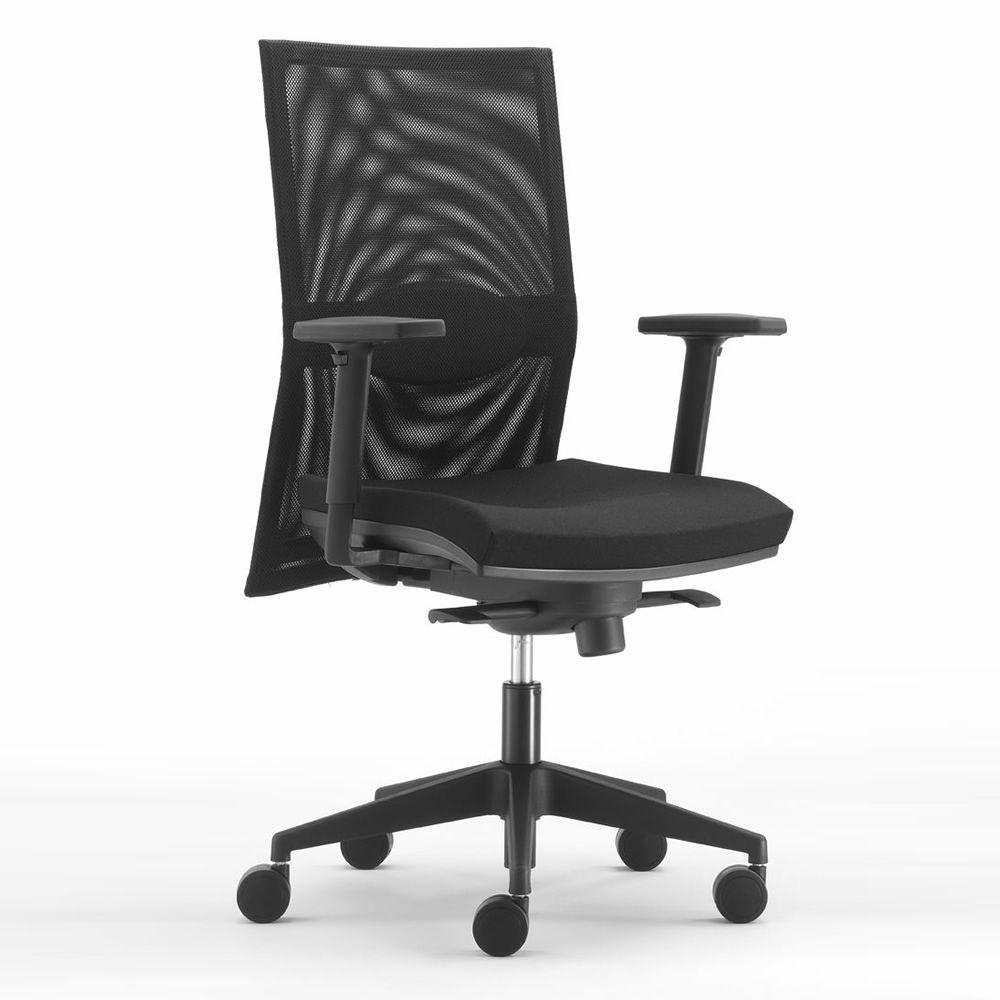 Ml497 sedia operativa da ufficio schienale alto in rete for Sedute da ufficio