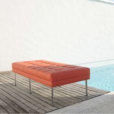 Daisy Bench - Panca a 2 posti con struttura in metallo, disponibile in diversi rivestimenti e colori