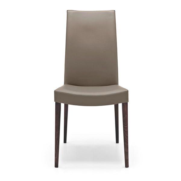 Cb1651 cometa pour bars et restaurants chaise en bois assise garnie et rec - Chaise bois et simili cuir ...