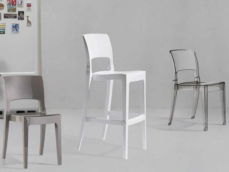 Isy s 2353 sgabello alto in policarbonato o tecnopolimero seduta