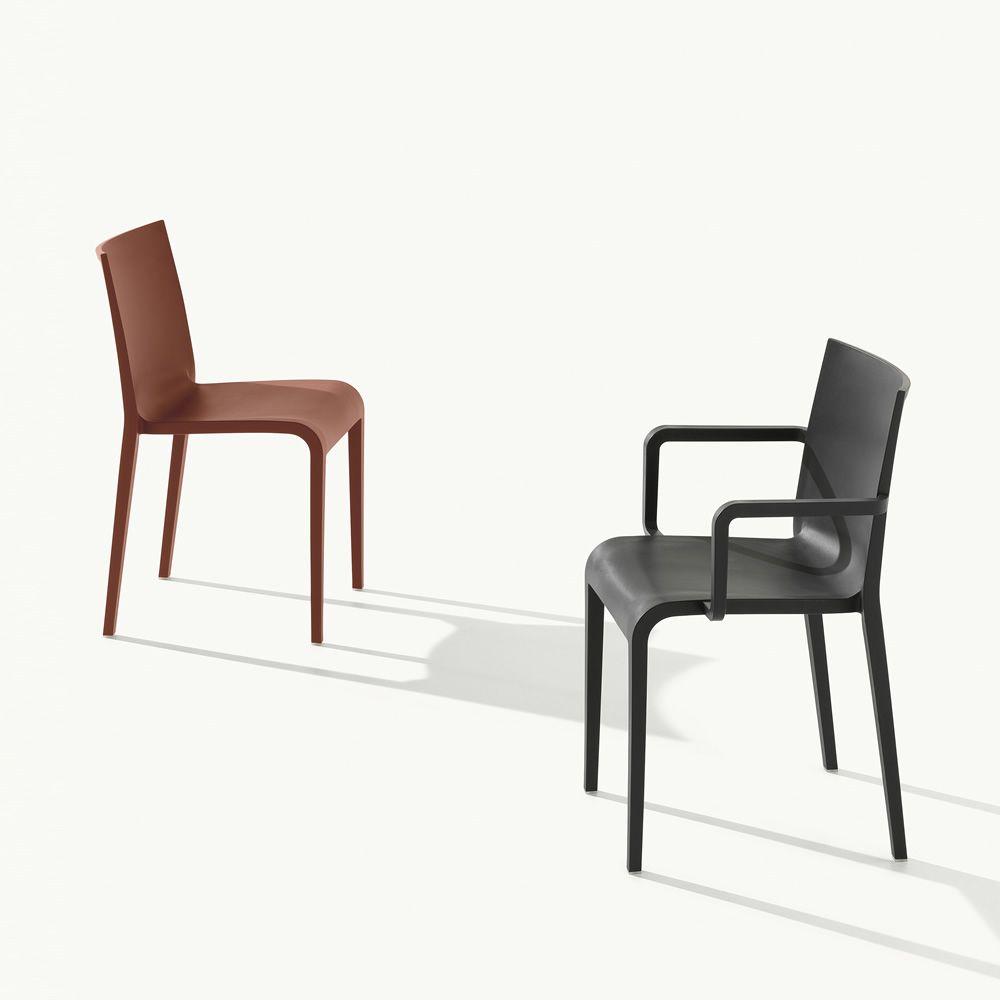 nassau chaise design en polypropyl ne avec ou sans accoudoirs empilable id ale pour jardin. Black Bedroom Furniture Sets. Home Design Ideas