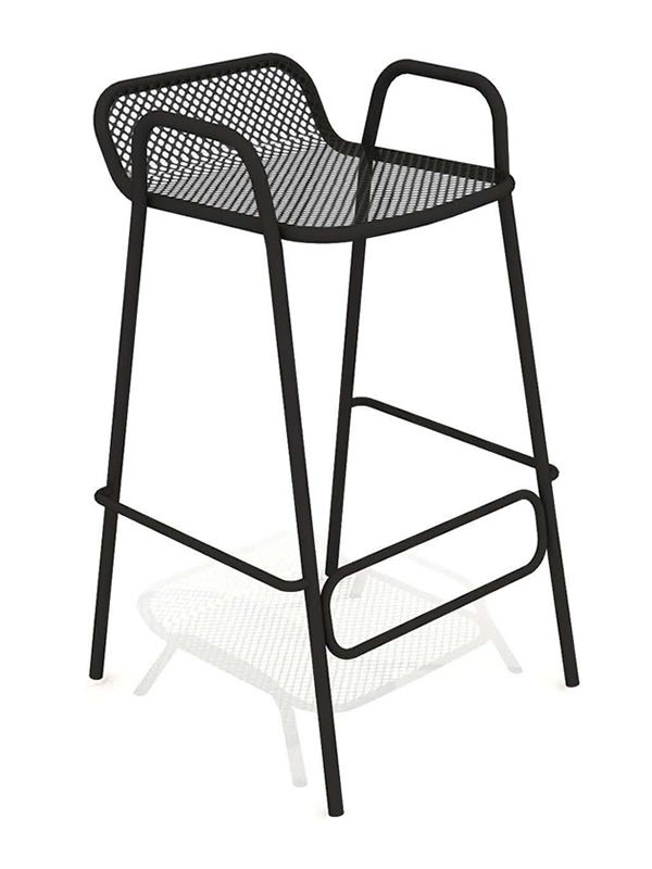 pounch pour bars et restaurants tabouret de bar design en m tal empilable pour ext rieur. Black Bedroom Furniture Sets. Home Design Ideas