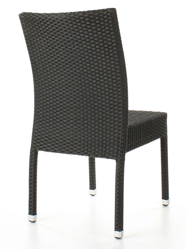 tt5 chaise empilable en aluminium et rev tement effet rotin pour le jardin sediarreda. Black Bedroom Furniture Sets. Home Design Ideas
