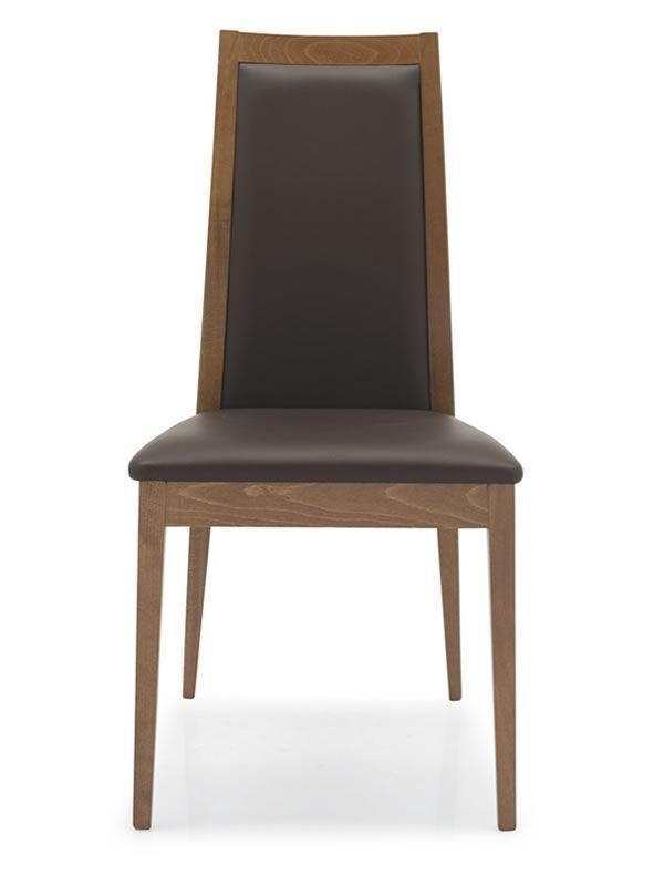 Cb1280 cortina chaise connubia calligaris en bois assise garnie avec rev - Revetement simili cuir ...