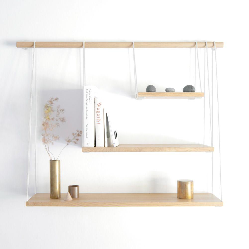 Bridge libreria da parete in legno e metallo sediarreda - Parete di legno ...
