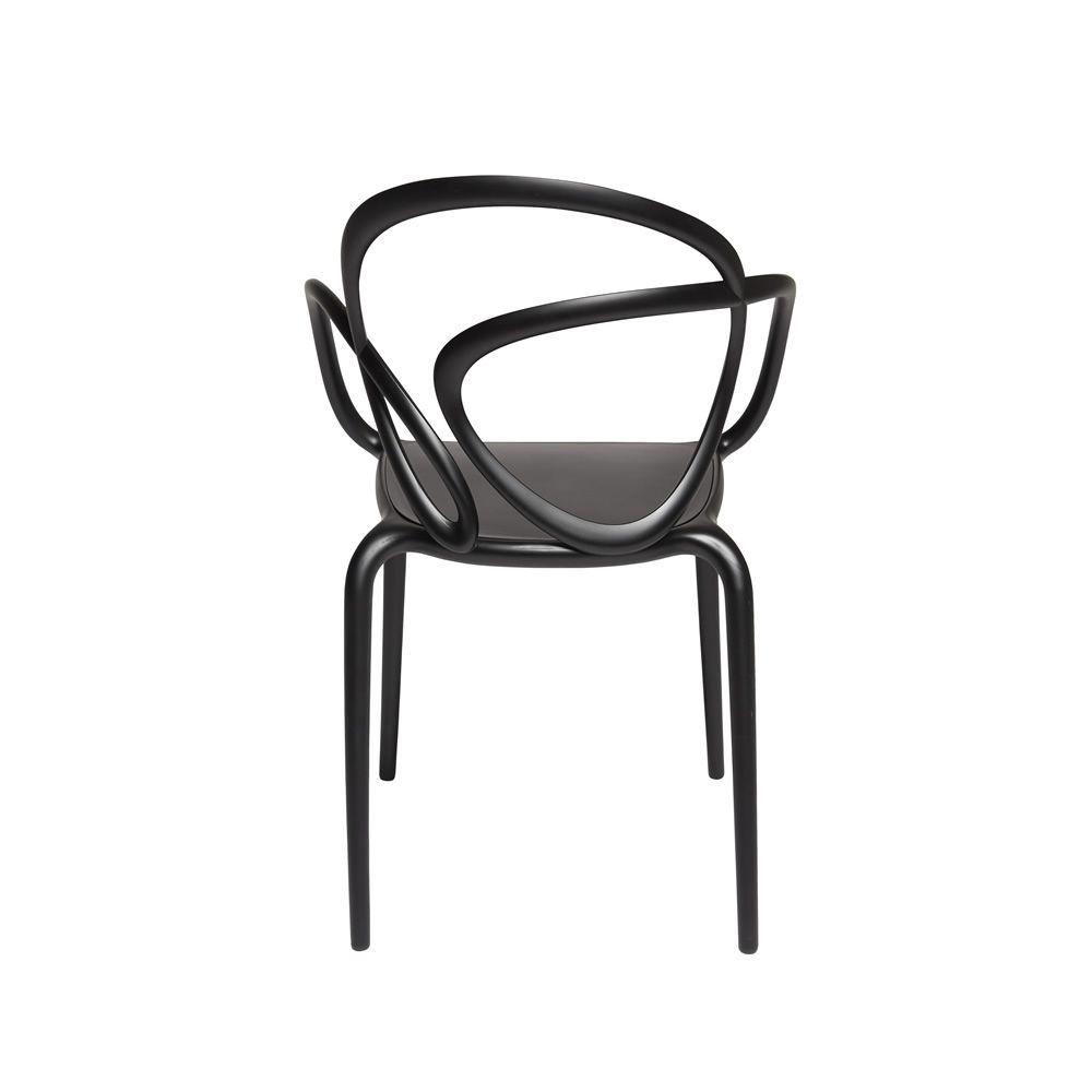 Loop chair sedia di design qeeboo in polipropilene impilabile anche per giardino - Sedia di design ...